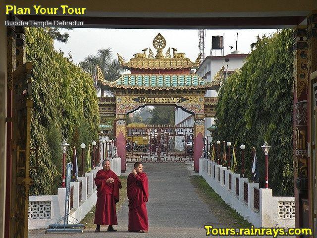 Tourist Attraction India: Buddha Temple Dehradun, entrance gate