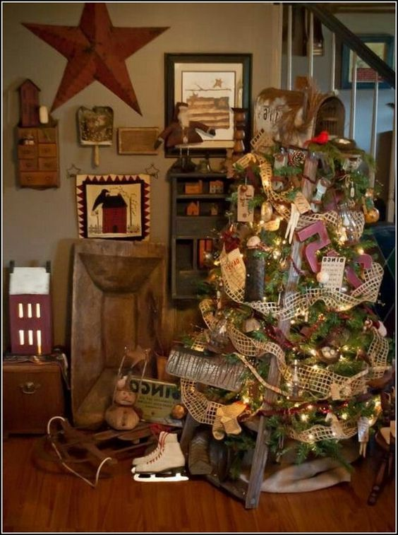 Stunning Primitive Christmas Decorations Ideas - Christmas Celebration -  All about Christmas - Stunning Primitive Christmas Decorations Ideas Christmas