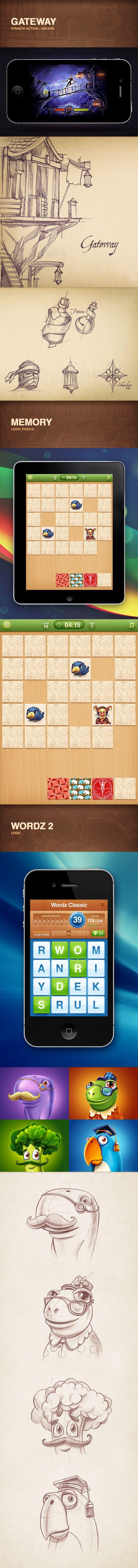 Portfolio 2012-2013 | iOS Games by Mike , via Behance