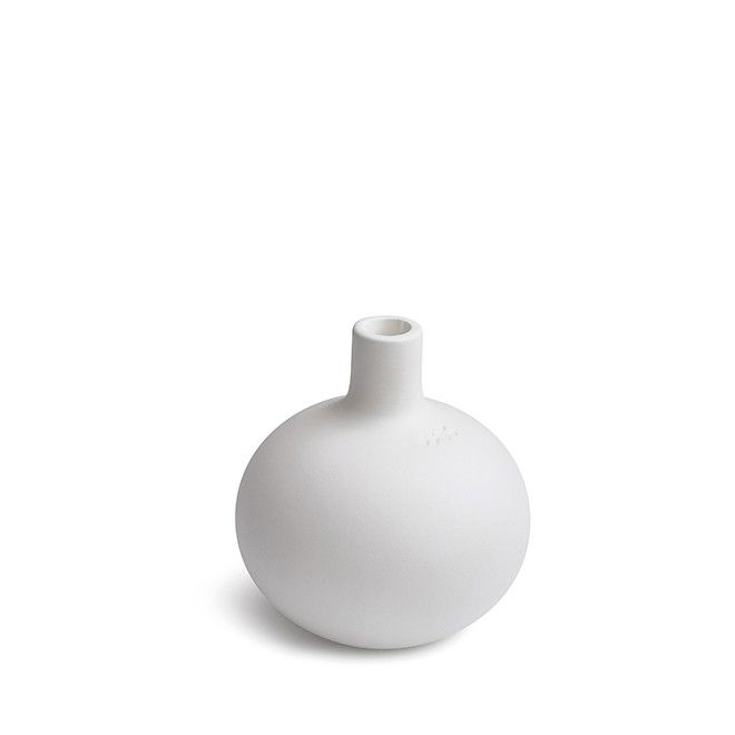 Globo candle holder small white