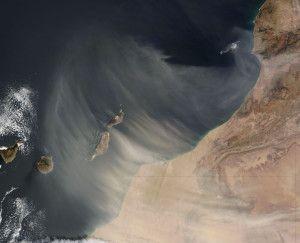 Canary Islands (Calima sand storm). Earth Observatory NASA.