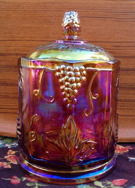 Golden Carnival Glass Autumn Harvest by TwentiethCenturyRose