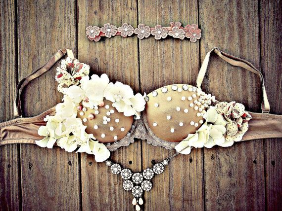 Victorian Queen Fantasy Rave Bra by TheLoveShackk on Etsy