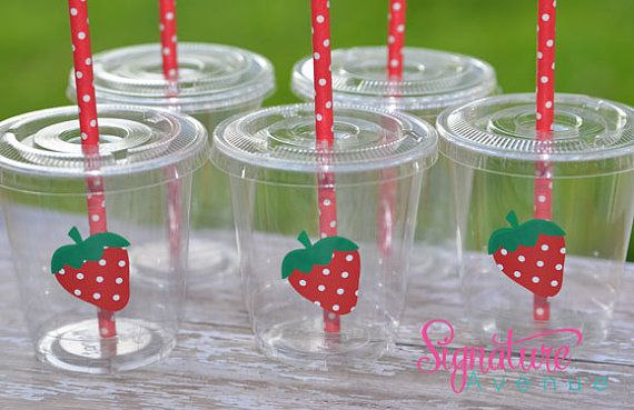 Strawberry Shortcake  Birthday Party Cups-Set of 12 on Etsy, $16.40