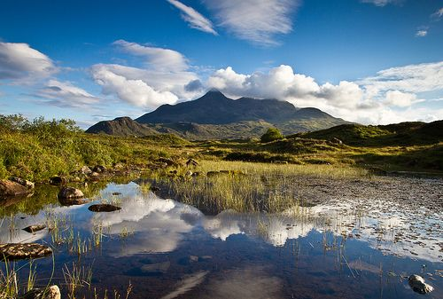 Cuillin Mountains from Sligachan - Isle of Skye - Scotland