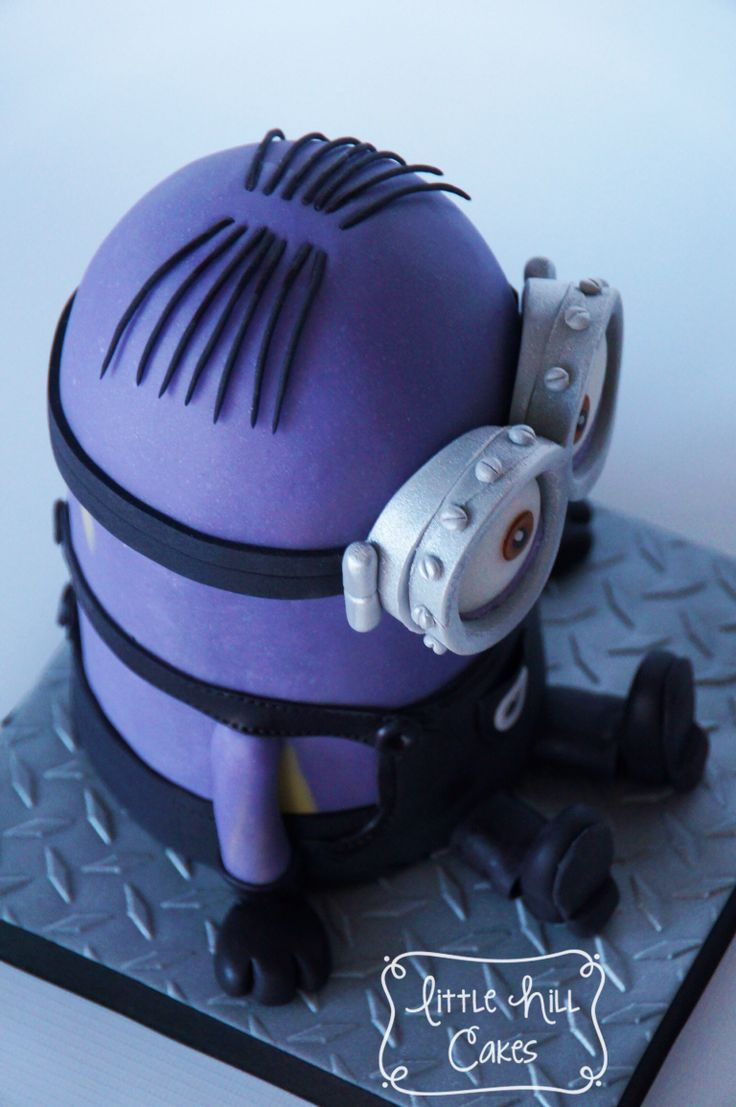 Yellow Minion Disguised as a Purple Minion Cake