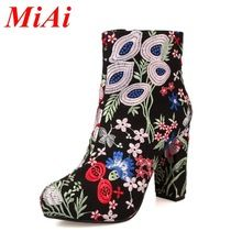 2016 nueva moda otoño invierno botas sexy zapatos de tacón alto del dedo del pie redondo estilo de china zapatos de mujer botines balck botas de montar tamaño 34-39(China (Mainland))