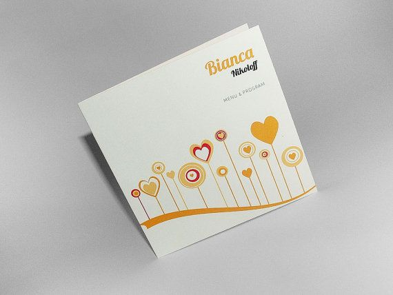 Hearts & Flowers Wedding Card 4in1 Card seating card by BudapestWP, $1.95