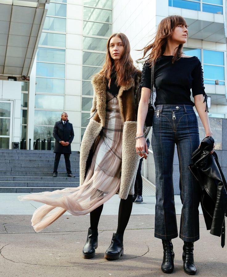 Sofia Tesmenitskaya and Alix Angjeli in Louis Vuitton jeans
