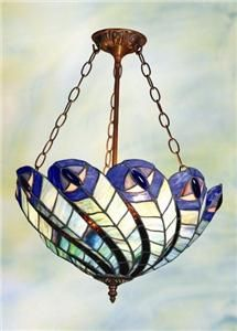 peacock chandelier | Tiffany Style Stained Glass Peacock Chandelier Lamp Light Fixture 18 ...