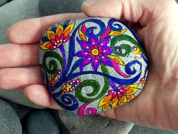 Garden of Eden / Painted Rock / Sandi Pike by LoveFromCapeCod