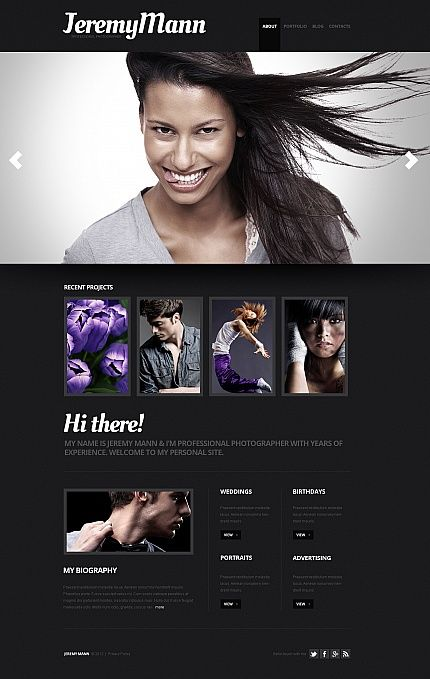Model Portfolio Website Template. monica brown website templates ...