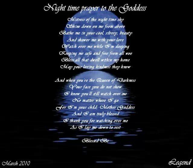 Night Time Prayer Quotes: Night Time Prayer To The Goddess