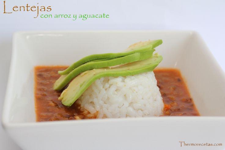 Lentejas con arroz y aguacate para niños - http://www.thermorecetas.com/2014/03/12/lentejas-con-arroz-y-aguacate-para-ninos/