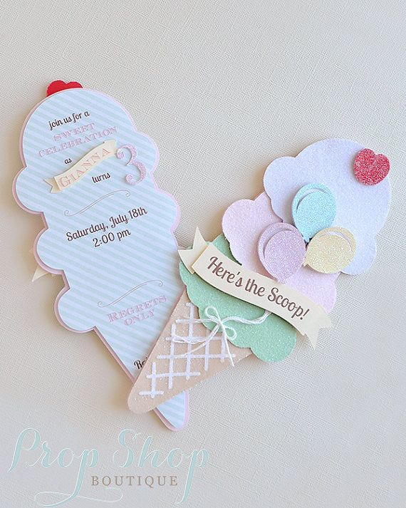 Ice Cream Social Ice Cream Cone Birthday by propshopboutique
