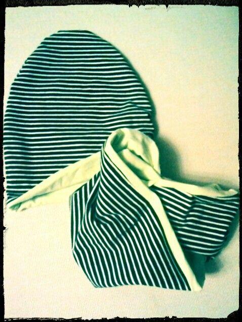 Cappello e sciarpa in jersey