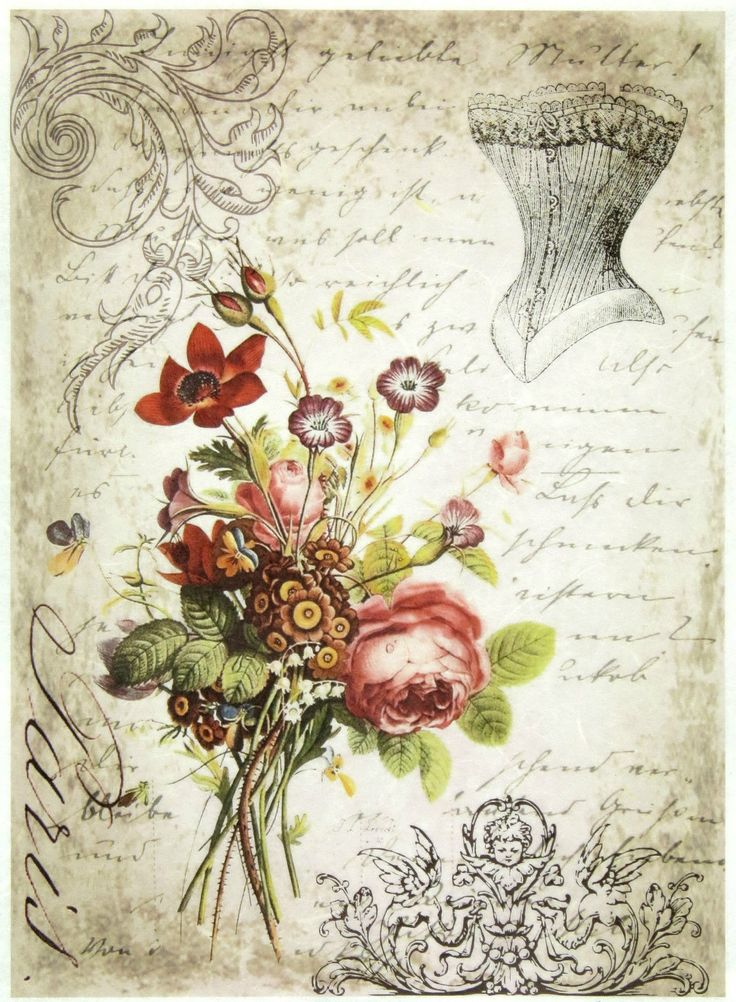 Ricepaper/Decoupage paper,Scrapbooking Sheets /Craft Paper Romantic Corset | eBay