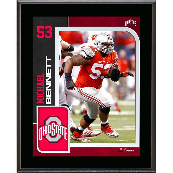 Michael Bennett Ohio State Buckeyes Fanatics Authentic 10.5'' x 13'' Sublimated Player Plaque - $23.99