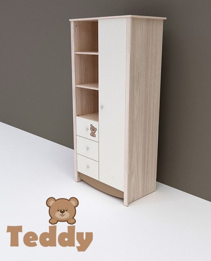 Todi Teddy 1 ajtós 3 fiókos nagy szekrény, Todi Teddy 1 ajtós 3 fiókos nagy szekrény, Zsebi Babaáruház