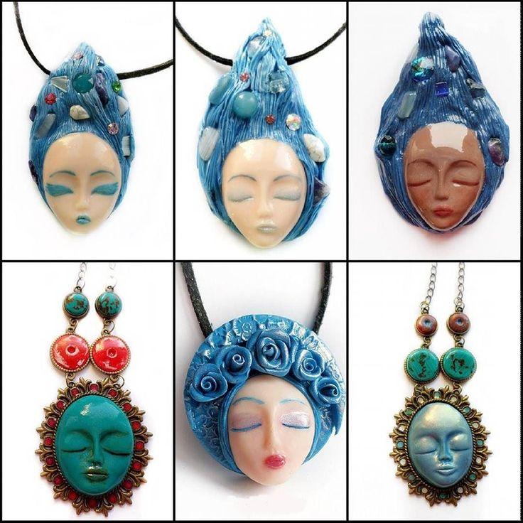 Wearing blue is so much better than being blue!  #jewelryaddict #customjewelry #fashionjewelry #loveit #artist #artisan #jewelry #etsyjewelry #handmadejewelry #red #jewelryforsale s #etsyshop #clayjewelry #artisanjewelry #handmade #blue #goddess #girl #girls #girlpower #powerfulwoman #turquoise #pendants #sculptedjewelry #sculptedart #etsyjeweler #seaside #bluejewerlycollection #bluejewelry