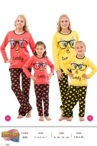 Roly Poly 4260 Tweety Kız Çocuk Pijama