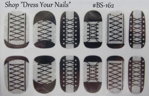 Nail-Foil-Wraps-Full-Cover-Thin-DIY-Stickers-Glitter-Black-Silver-Animal-Music