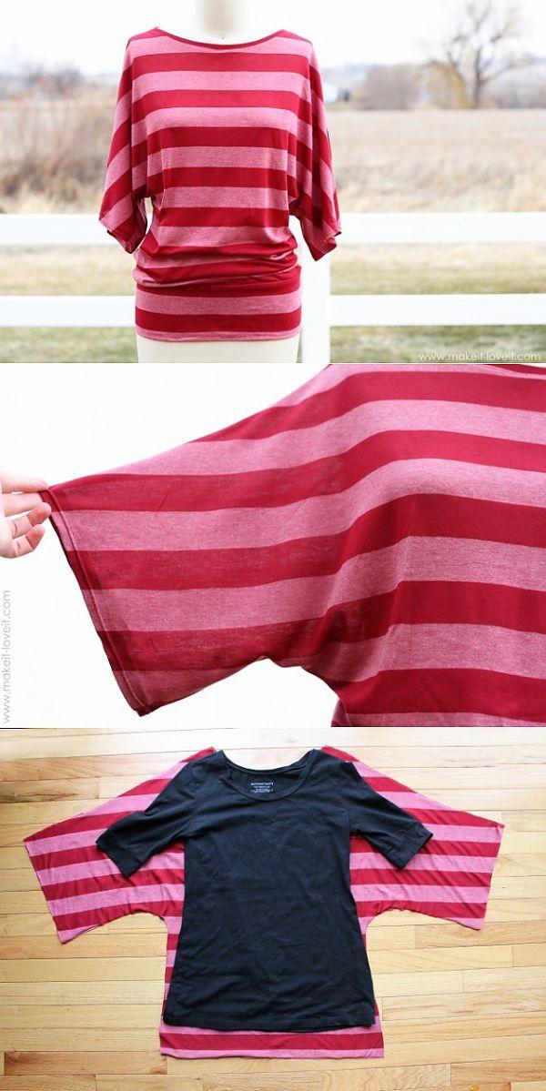 Выкройка туники (мастер-клас) / Футболки DIY / Модный сайт о стильной переделке одежды и интерьера