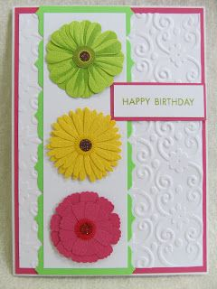 vivid colours Savvy Handmade Cards: Zinnia Flower Happy Birthday Card