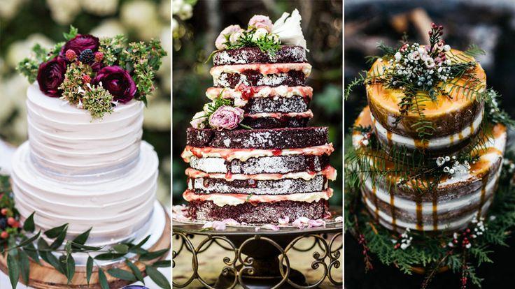 17 vackra tårtor i olika stilar – perfekta för höstbröllopet