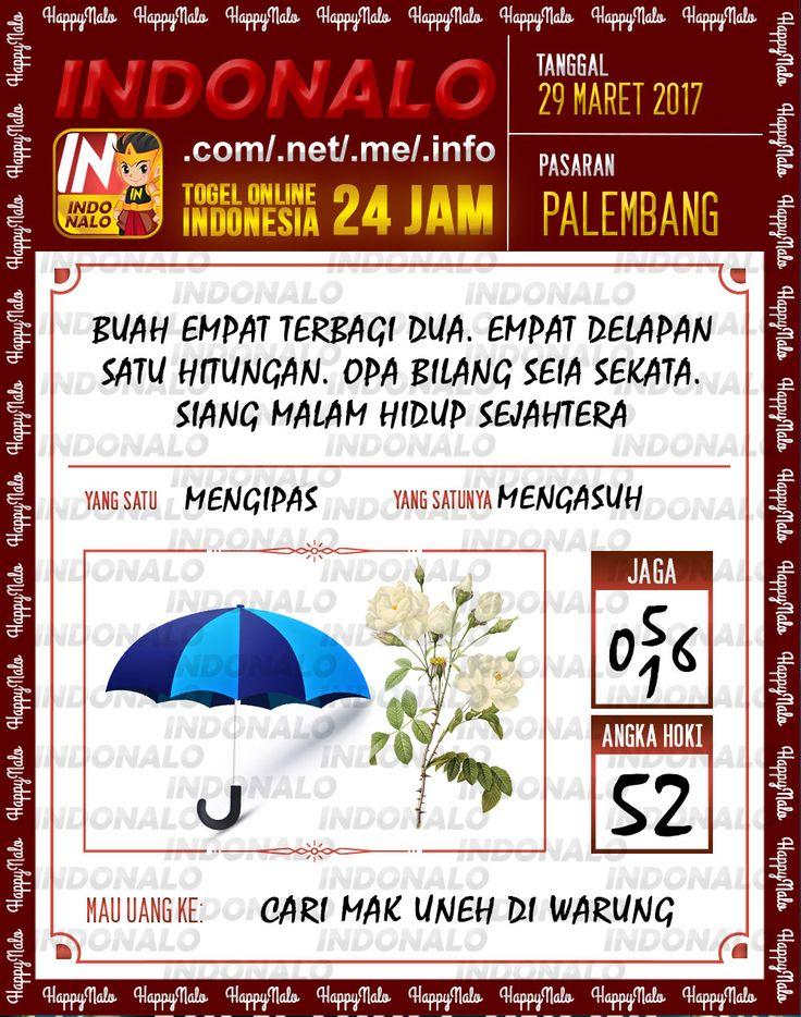 Kode Mistik 6D Togel Wap Online Indonalo Palembang 29 Maret 2017