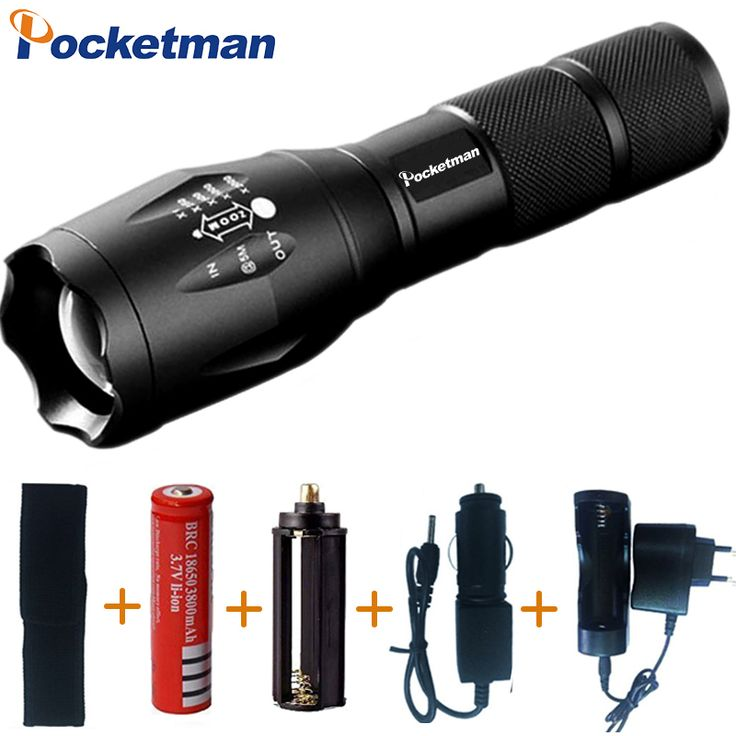 Powerful LED Flashlight Zaklamp Torch CREE XM-L T6 3800LM Linternas Led Zoomable Lampe Torch Lighting linternas Zaklamp Torcia #Affiliate