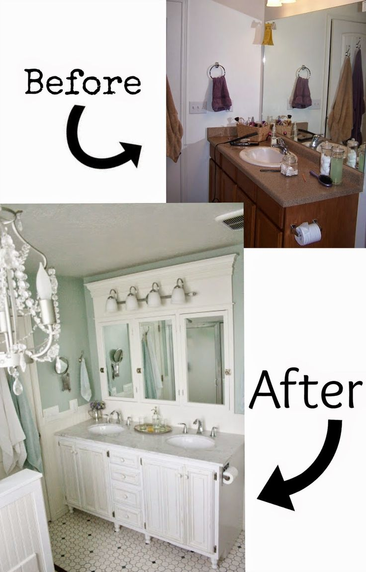 pneumatic addict 7 best diy bathroom vanity makeovers i like all the wood and crown molding. Black Bedroom Furniture Sets. Home Design Ideas
