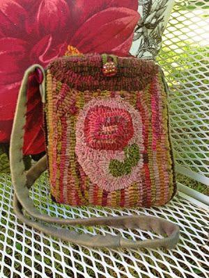 hooked rug bag by dulcysdoorstep