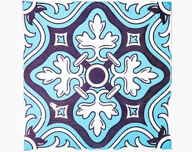 Decolfa Tile Sticker (Blue) For DIY Decorate Home Design Art Kitchen Room Sink