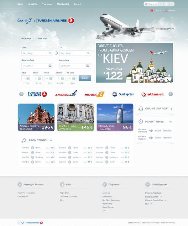 Airline Tickets Site Design on Web Design Served