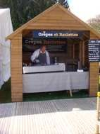 3m x 3m crepe chalet comes with crepe and raclettes signage  2 burner professional crepe machine & professional raclette machine  It is great for doing christmas markets or for selling crepes at outdoor events  Fits inside a transit van with sectional assembly so easy to transport