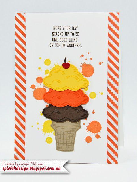 Splotch Design - Jacquii McLeay - Stampin Up - Sprinkles of Life Card