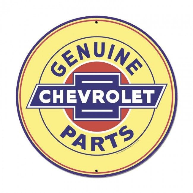 Genuine Chevrolet Parts 28 x 28 Inch Metal Steel Sign USA Made Vintage Style Retro Garage Art Free Shipping GMC113 by HomeDecorGarageArt on Etsy
