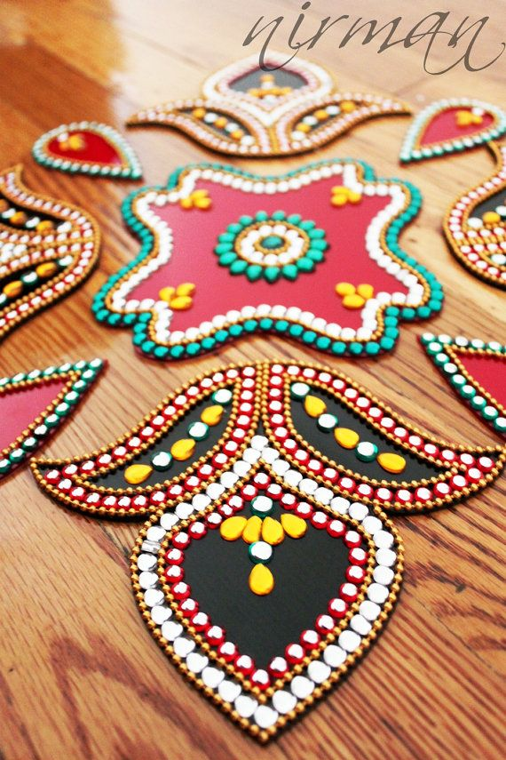 131 best altered art images on pinterest altered art for Floor rangoli design