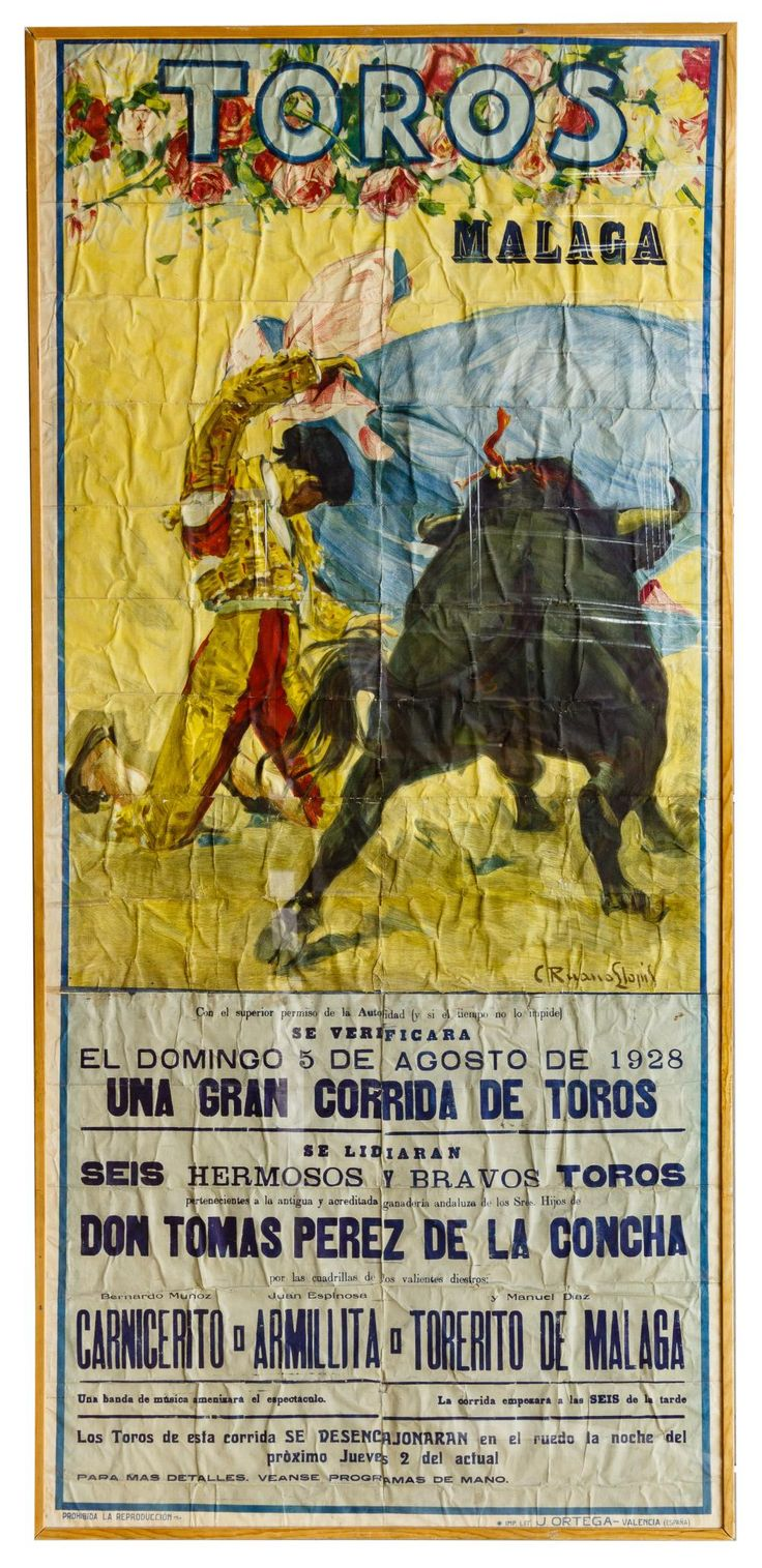C. Ruano Llopis (Spanish 1879-1950) Bull Fighting Poster ...