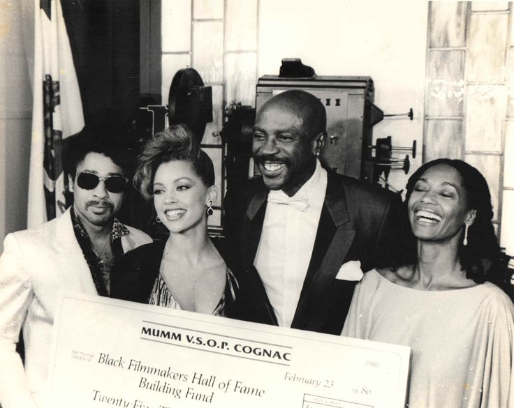 with Louis Gossett Jr and others by Black Filmmakers Hall of Fame Archives, 1985
