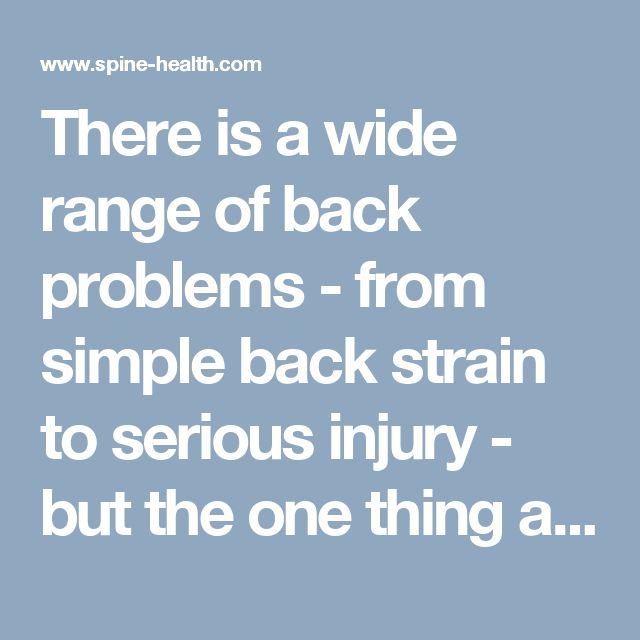 There is a wide range of back problems - from simple back strain to serious injury - but the one thing almost all of them have in common is that part of the cure involves exercise.