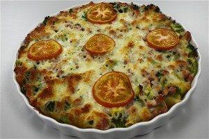 Pastatærte med skinke og ost 4