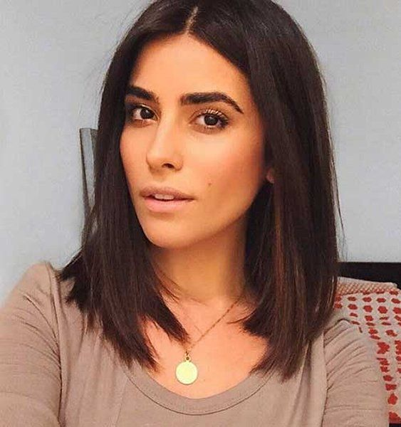 25 Simple Long Bob Hairstyles Which You Can Do Yourself-Superb Long Dark Brown Bob