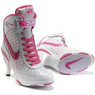 Womens Nike Air Force 1 High Heels Pink White � Lebron 11Nike ...