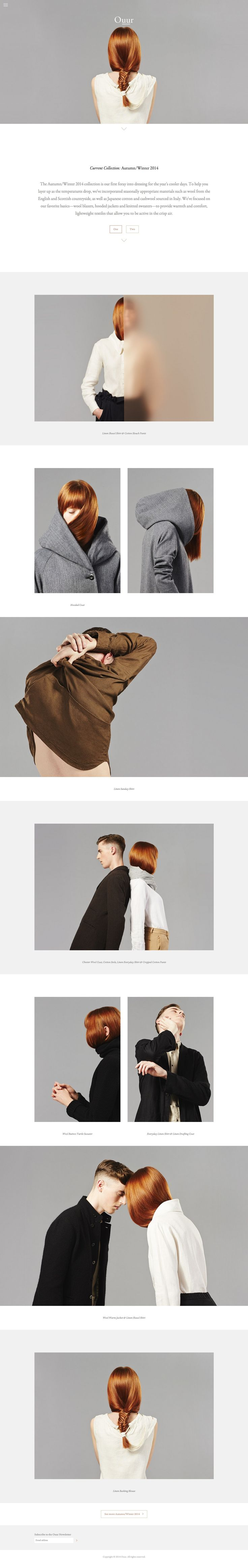 Ouur Collection Website