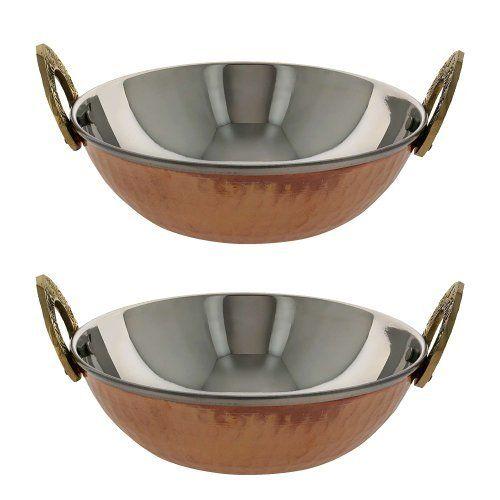 serving bowl karahi indian dishes serveware set of 2 by ShalinIndia,