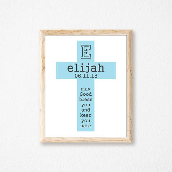 Personalized Baptism Gift. Christening Gift. Communion Gift.