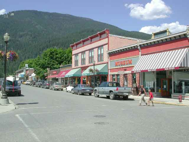 Main street, Kaslo BC - we went with another couple of a trip here.  Went for a nice swim in Kaslo at the beach.