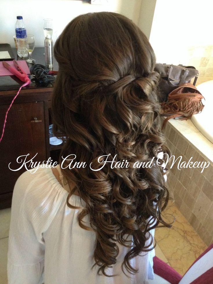 Hair: www.krystieann.com  Wedding hair, bridesmaid hair, curls, bridal hair, beach wedding hair